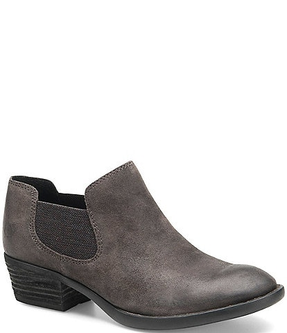 Born Dallia Chelsea Distressed Suede Block Heel Shooties