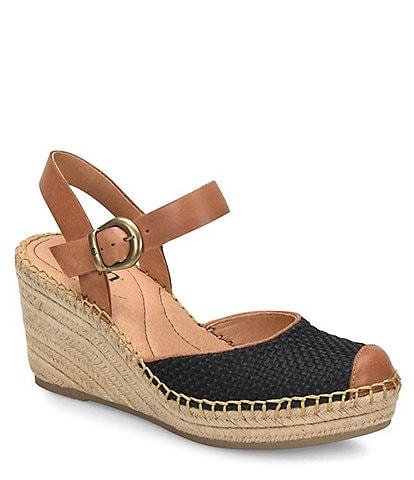 da41c3c7c980 Born Guadalupe Leather Wrapped Wedge Espadrilles
