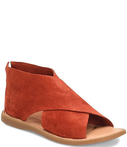 Born Iwa Criss Cross Banded Suede Sandals