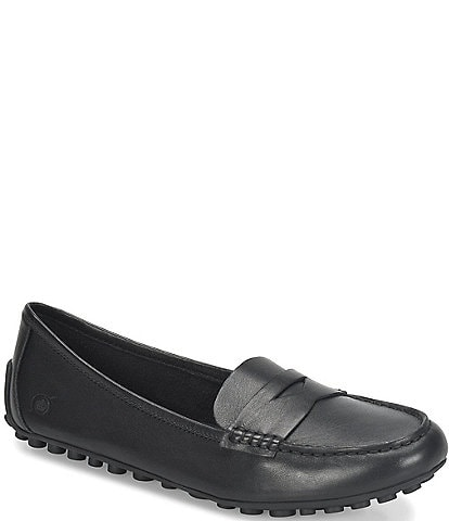 Born Malena Leather Dress Penny Loafers