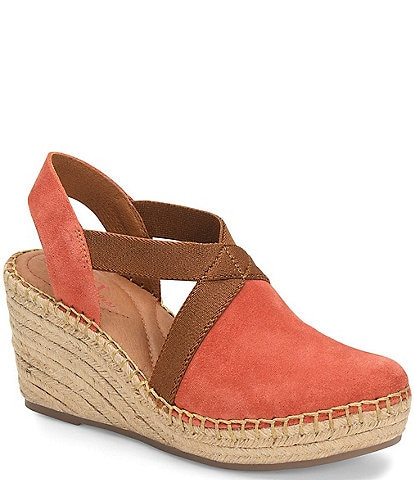 Born Meade Suede Espadrille Wedges