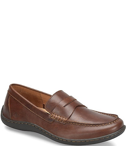 Born Men's Simon II Tan Leather Penny Loafer