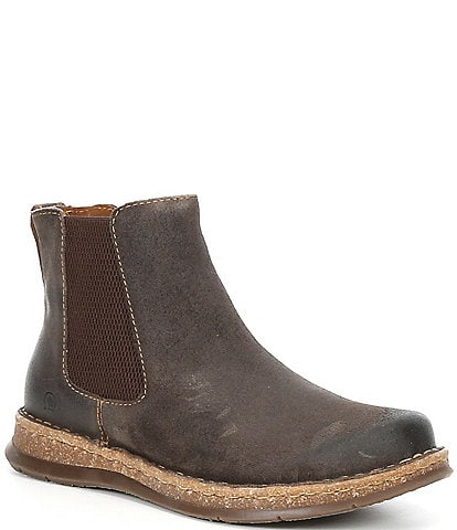 Born Men's Brody Destressed Leather Chelsea Boots