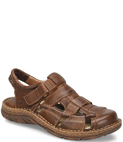 48a95709848215 Born Men s Cabot III Leather Fisherman Sandal