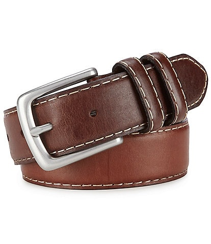 Born Men's Contrast Leather Belt
