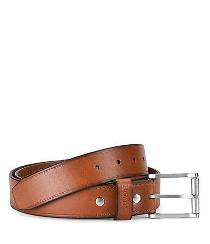 Born Men's Leather Roller Buckle Belt
