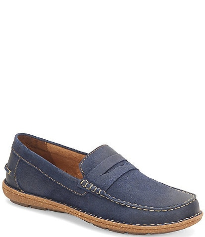 Born Men's Negril Distressed Leather Penny Loafers