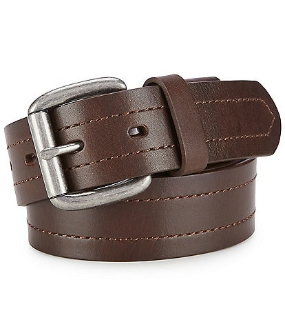 Born Men's Tumbled Texture Leather Belt