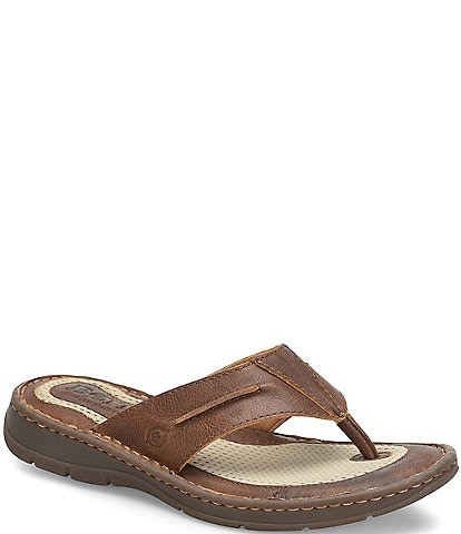 Born Men's Whitman Leather Thong Sandal