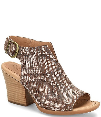 Born Moraine Snake Print Leather Shooties