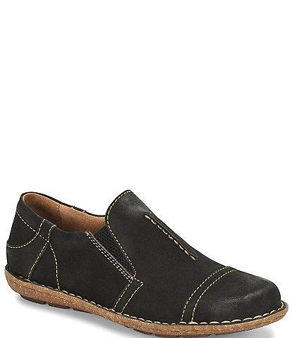 Born Nampa Nubuck Leather Slip-Ons