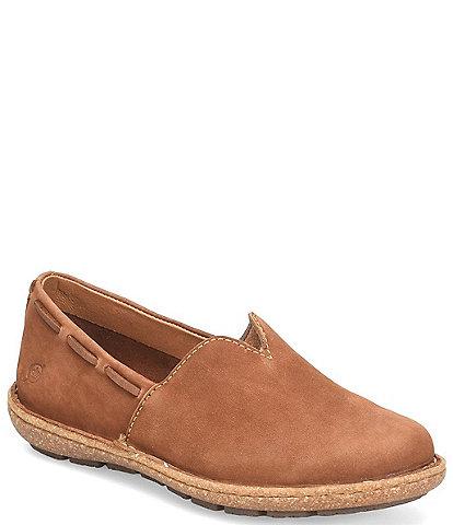 Born Naya Nubuck Leather Slip-Ons