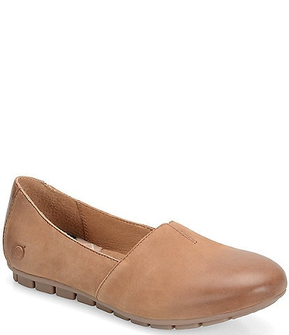Born Sebra Leather Slip-Ons