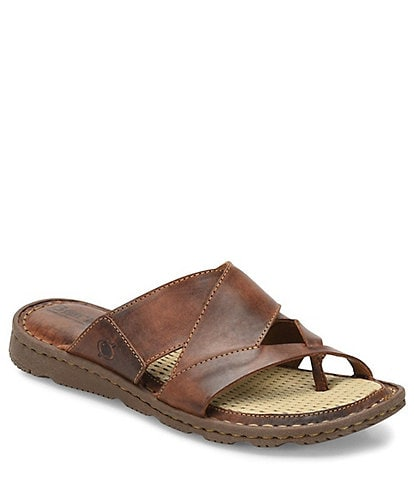 90332ad1c925 Born Sorja II Leather Thong Slide Sandals