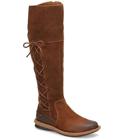 Born Tarla Suede Lace-Up Accent Tall Boots