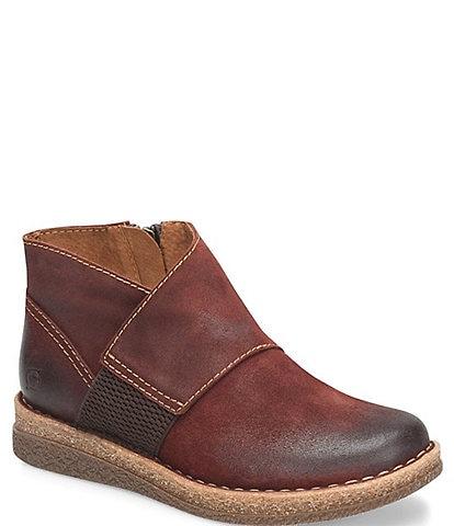 Born Tora Distressed Leather Booties