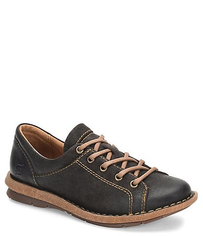 Born Trevan Distressed Suede Lace-Up Oxfords