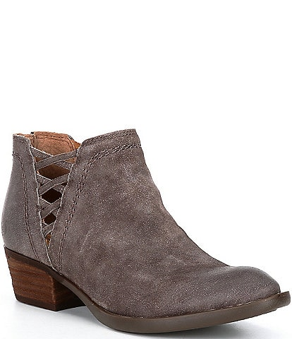 Born Waterville Distressed Suede Leather Western Booties