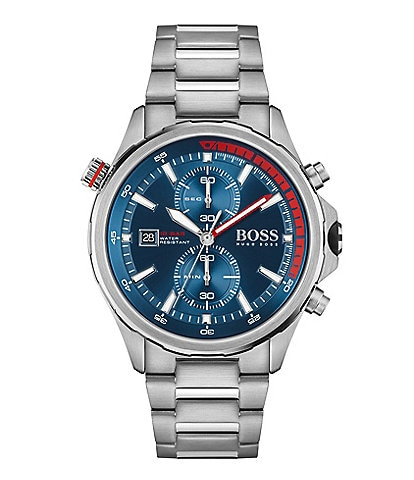 BOSS Hugo Boss Globetrotter Stainless Steel Bracelet Watch