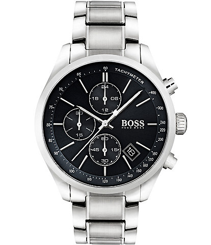 BOSS Hugo Boss Grand Prix Chronograph & Date Bracelet Watch