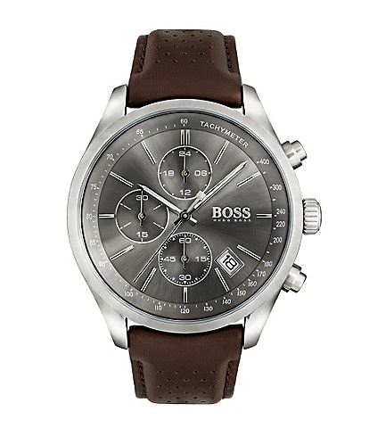 BOSS Hugo Boss Grand Prix Smooth Leather Watch