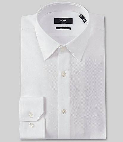 BOSS Hugo Boss Regular Fit Point-Collar Solid Dress Shirt