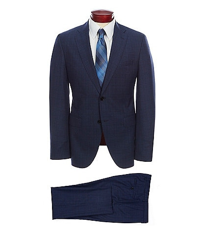 8a908b4c BOSS Hugo Boss Slim Fit Screen Weave Wool Suit