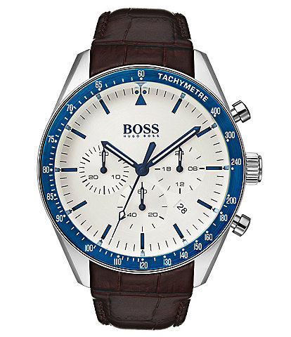 BOSS Hugo Boss Trophy Croc Leather Watch