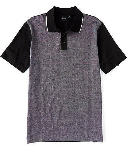 BOSS Parlay Color Block Short-Sleeve Polo Shirt