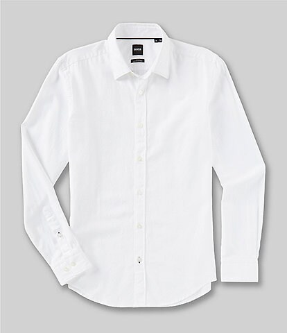 BOSS Ronni Solid Long-Sleeve Woven Shirt