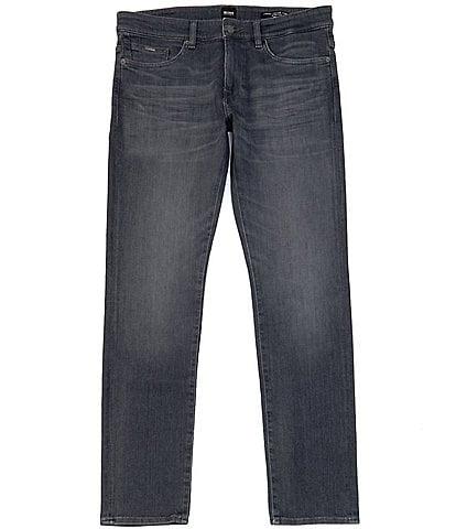 BOSS Slim-Fit Delaware Charcoal Stretch Denim Jeans