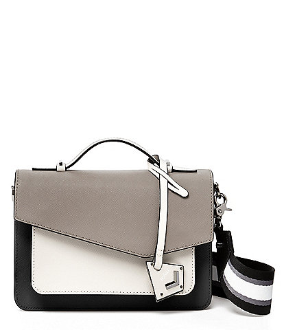 Botkier Cobble Hill Winter Grey Colorblock Cross-Body Bag