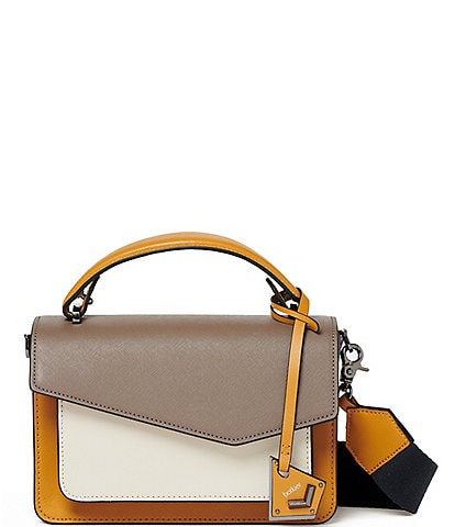 Botkier Cobble Hill Colorblock Leather Top Handle Flap Crossbody Bag