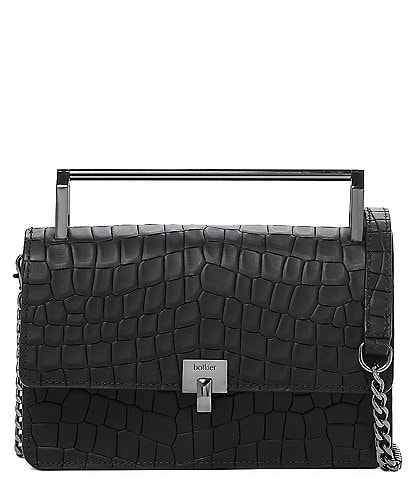 Botkier Lennox Crocodile Small Crossbody Bag