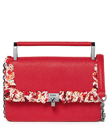 Botkier Lennox Hill Top Handle Floral Trim Crossbody Bag