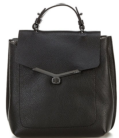 Botkier Valentina Pebble Leather Turnlock Backpack