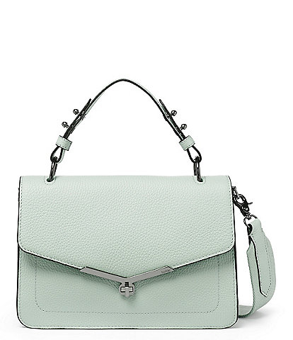 Botkier Valentina Leather Flap Top Handle Satchel Bag
