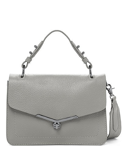 Botkier Valentina Pebble Leather Flap Satchel Bag