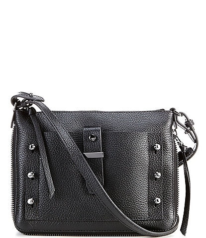 Botkier Warren Leather Studded Top Zip Crossbody Bag