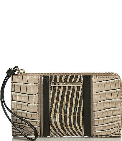 BRAHMIN Biscuit Nakoma Collection Corie Wristlet