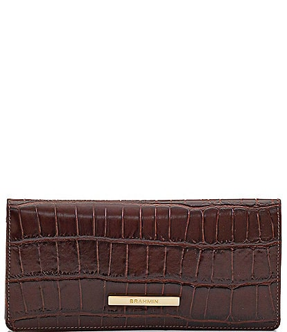 BRAHMIN Brava Collection Ady Crocodile-Embossed Wallet