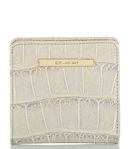 BRAHMIN Calypso Collection Iridescent Jane Crocodile-Embossed Leather Bi-Fold Wallet