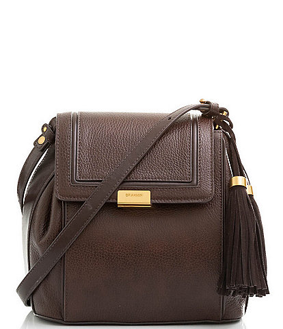 BRAHMIN Cordoba Collection Margo Textured Leather Crossbody Bag