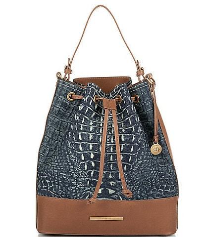 BRAHMIN Denim Quinze Collection Marlowe Shoulder Bag