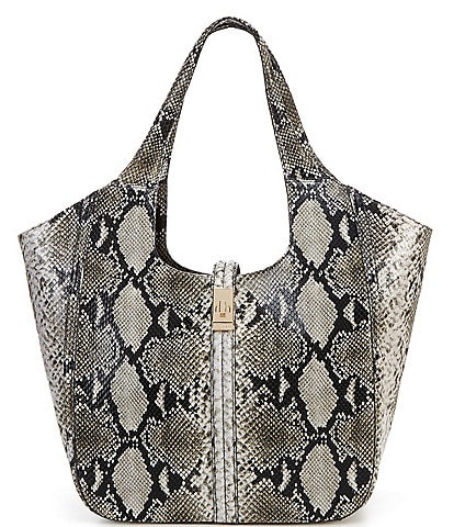 BRAHMIN Felix Collection Carla Snakeskin Tote Bag