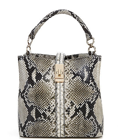 BRAHMIN Felix Collection Mini Amelia Snake Bucket Bag