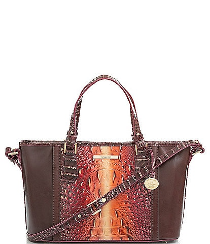 BRAHMIN Gables Collection Mini Asher Tasseled Tote Bag