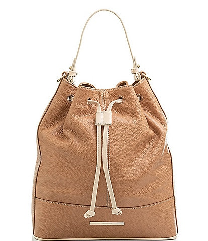 BRAHMIN Henderson Collection Marlowe Leather Bucket Shoulder Bag