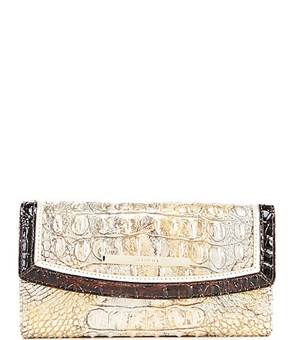 BRAHMIN Katla Collection Crocodile-Embossed Modern Clutch