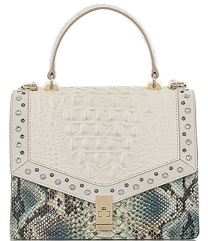 BRAHMIN Lillium Collection Mini Francine Satchel Bag